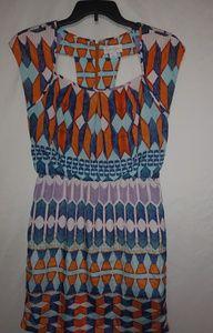 Jessica Simpson Geo Design Dress Sz 8
